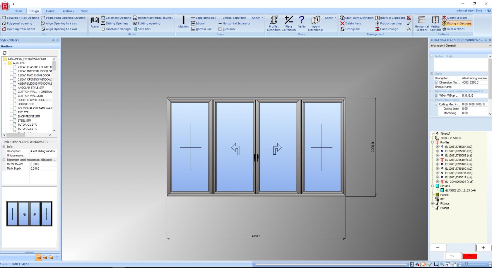 Fp Pro Software For The Design And Calculation Of Doors Windows Emmegisoft Emmegisoft S R L