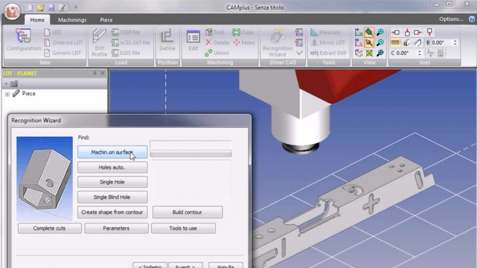 Drivercad - 3D parts import in STEP / ACIS-SAT format with machining recognition Emmegisoft