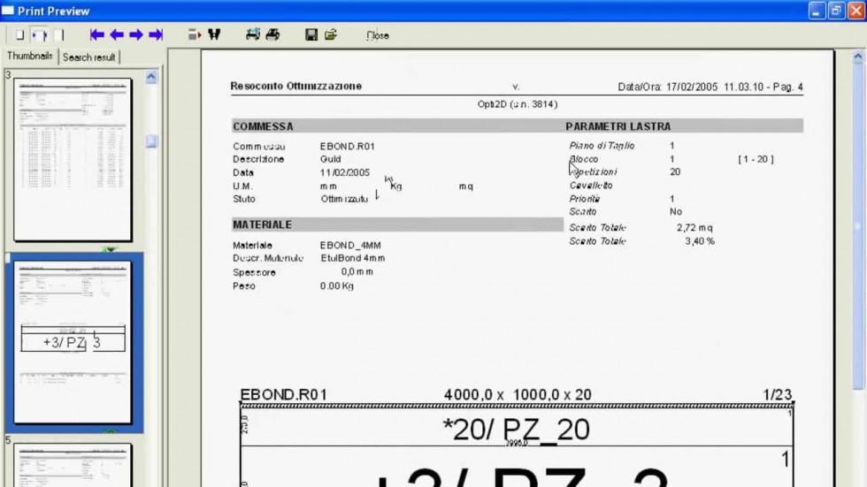 FP OPTI2D - Surface optimization Emmegisoft